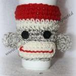 Sock Monkey Coffee Cup Hug..