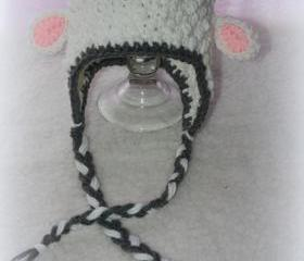 Baby Lamb earflap beanie